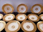 12 Minton China for Tiffany & Co Gold Encrusted Soup Plate/Bowl England