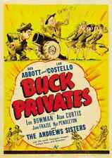 Buck Privates 1941 01 Film A3 Poster Print