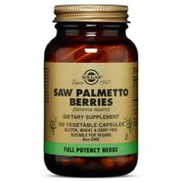 Solgar Saw Palmetto Berries 100 Vegetable Capsules FREE US SHIPPING FRESH