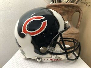 DEVIN HESTER CHICAGO BEARS/ MIAMI HURRICANES RIPPED FOOTBALL HELMET LARGE!