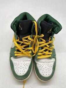 Nike Air jordan 1 Mid 'Sonics' 554724-307 Sneakers Green/yellow Men Size 10