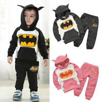 Kids Boys Girls Batman Tracksuit Hoodies Sweatshirt Tops Pants Comfy Outfit Sets