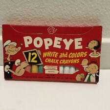 1953 Vtg Popeye the Sailor Man White and Colored Chalk by American Crayon Co Nib