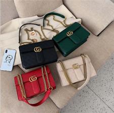 Women's Ladies Gold Chain Quilted CG Shoulder Bag Crossbody Handbag New