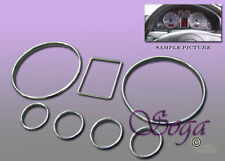 FOR AUDI A4 S4 A6 S6 DASH CLUSTER GAUGE TRIM RINGS BEZEL 1998 1999 2000 2001 NEW