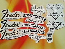 Fender stratocaster headstock waterslide restoration decal set