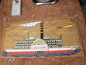 River Queen Plaque Wall Hanger Handmade.