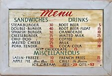 Vintage Style Country Primitive Kitchen Home Decor 50's Diner Menu Wall Sign