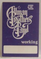 Allman Brothers - Gregg - Original Cloth Concert Tour Backstage Pass