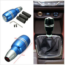Universal Car Auto Gear Shift Knob Cool Shifter Lever w/ Adapters Aluminum Blue