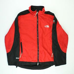 THE NORTH FACE Mens Jacket Wind Stopper Summit Series Fleece Black Red Size XXL