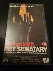 PET SEMATARY - CIC VIDEO  - EX RENTAL - BIG BOX VHS