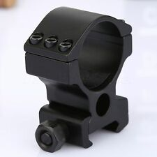 "Tactical High Profile 30mm/ 1"" Scope Rings Weaver/Picatinny Rail Mount For Rifle"