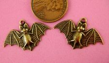 ANTIQUE BRASS SMALL FLYING BAT CHARMS-2 PC(s)
