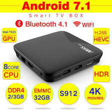 M8S Pro DDR4 Android 7.1 4K Smart TV BOX S912 Octa Core HD Movies 5G wifi 3G+32G