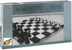 Magnetic Chess Board Folding Materials & Smooth Surface 9.5-inch (Black & White)