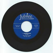 POP 45 THE FOUR TUNES I UNDERSTAND ON JUBILEE  STRONG VG REPRO