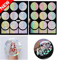 Fashion Nail Art Manicure Stencil Guide Stickers Stamping Vinyls Easy Use NF313