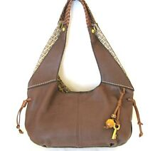 NEW FOSSIL TORY ESPRESSO BROWN LEATHER+WOODEN BALL TASSEL SATCHEL,PURSE,HAND BAG