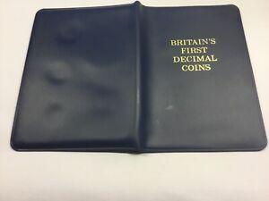 Britain's First Decimal Coins in Original Royal Mint Folder