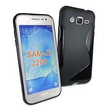 Tuff-Luv TPU Anti-Slip Gel case for for Samsung Galaxy J2 / 200 - Black