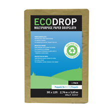 Lot of 12 Trimaco 9ft x 12ft EcoDrop Multi-Purpose Paper Drop Cloth #02101