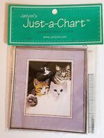 Cat's Eyes Counted Cross Stitch Pattern / Janlynn Just-A-Chart 13-280 NEW 2000