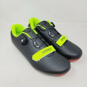 SPEED Microtex Mens Cycling Bike Bicycle Shoes For Peloton Size 9.5/43