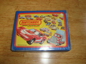 1980 LESNEY MATCHBOX OFFICIAL COLLECTORS CARRY CASE 48 VEHICLES BLUE W/TRAYS