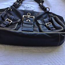 Prada Handbag Black Napa Leather