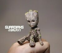 Deadpool,Black Panther,Groot Action Figure Sitting Posture Model Anime Mini Do