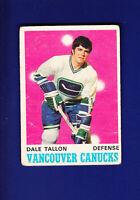 Dale Tallon RC 1970-71 O-PEE-CHEE OPC Hockey #225 (VG) Vancouver Canucks