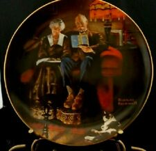 1984 Norman Rockwell Light Campaign Evening'S Ease Collector Plate