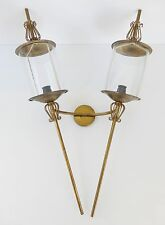 LUNEL : GRANDE APPLIQUE DOUBLE VINTAGE 50S ROCKABILLY 50's FRENCH WALL LIGHT
