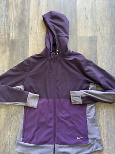 Nike Running Jacket Dry Fit Size XL Purple Black Outdoor Active Exercise Wear