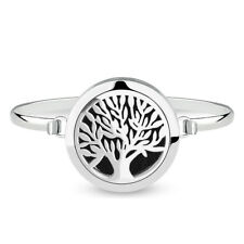 Tree of life Perfume Bangle Bracelet Oil Diffuser Locket Essential Aromatherapy