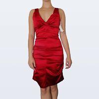 Bnwt Pretty woman shiny silky look red dress fits size 8