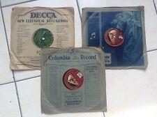 Lot de 3 anciens disques the master's voice Polydor Maucrice Chevalier Mickey