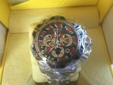 Invicta 52mm Reserve KING VENOM Swiss Movt Chrono SNAKE DIAL Silver SS Watch NEW