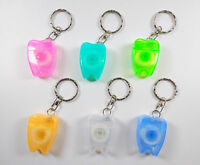 Dental Waxed Floss Key Chains  Mint Flavor For Teeth Cleaning Gum Care (20 Pcs)