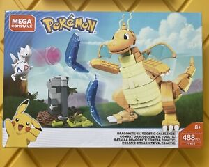 Mega Construx - Pokemon Dragonite vs Togetic Clash 488 Pcs, FVK75 (NEW)