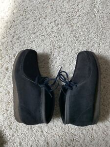 CLARKS MENS 11 Ink/ Blue Suede WALLABEE STYLE