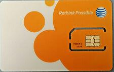 At&T 3G/4G/Lte Sim Card Postpaid - Go Phone Prepaid - Sku 73057