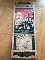 Scotland North 1940 War Revision Ordnance Survey Map Quarter Inch 4th Edition