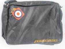 Mens waxy Black synthetic LAMBRETTA shoulder bag style LAMB202