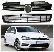 2pcs Silver Front Bumper Upper+Lower Grille Grill Vent For VW Golf 6 2009-13