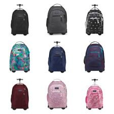 New Jansport Driver 8 Wheeled Backpack Rolling Trolley Bag All Colors NWT
