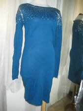 VICTORIA'S SECRET MODA INTERNATIONAL BLUE SEQUIN EMBELLISHED DRESS, SZ S, NEW