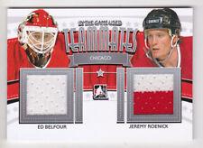 13-14 ITG Used Ed Belfour Jeremy Roenick Jersey Teammates Blackhawks 2013