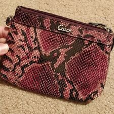 Coach Soho Embossed Purple Python Madison Wallet Medium Wristlet Clutch F46493